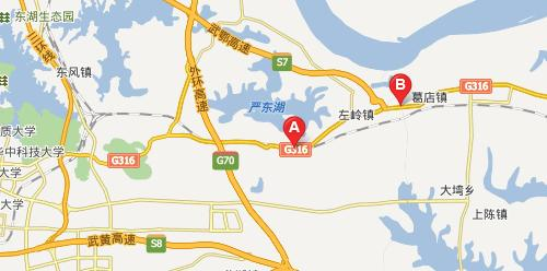 城际公交316国道段部分路线图-武汉302路城际公交有望于年底前开通