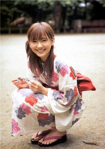 日本十大可爱浴衣美女 竖