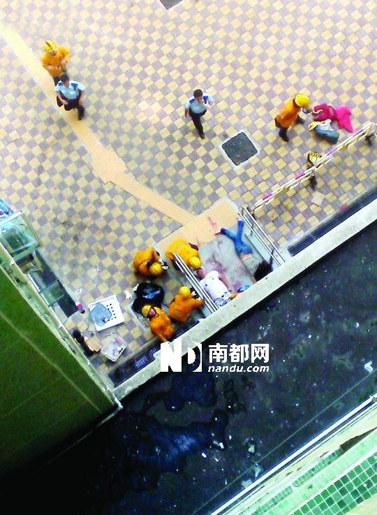安徽 香港/子洋当日被跳楼女砸中双双躺地。