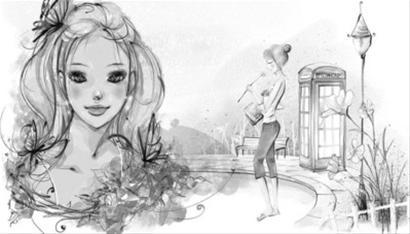 素描花朵步骤图解