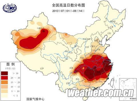 全国高温地图 手绘