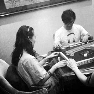 汪峰和章子怡曾在一起打麻将