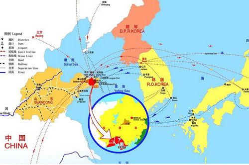 从北京乘坐飞机到威海大水泊国际机场