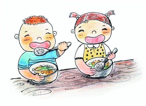 孩子在幼儿园吃得怎么样?图片