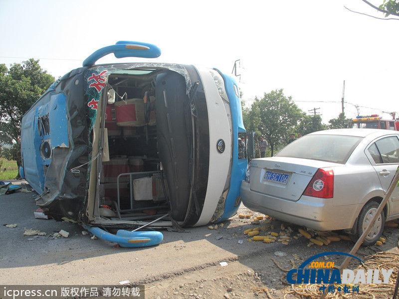 安徽安庆:安枞公路发生重大交通事故