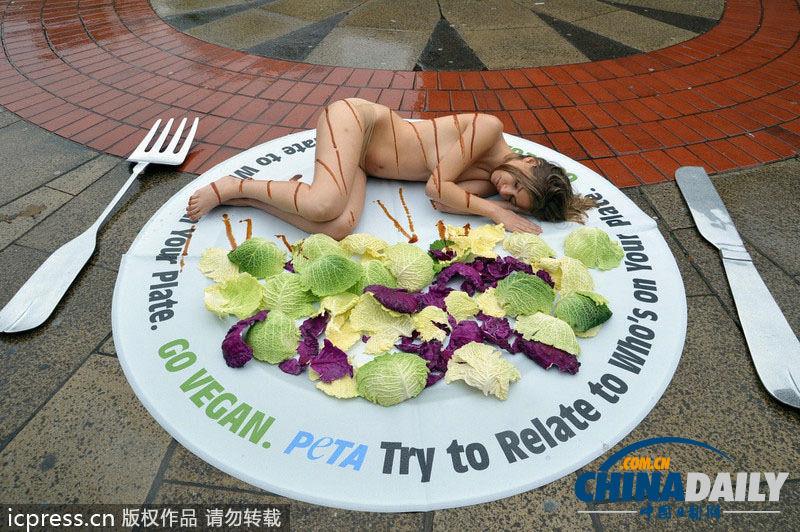 性感美女日看国际裸体无肉宣传照完拍素食顺便打一炮图片
