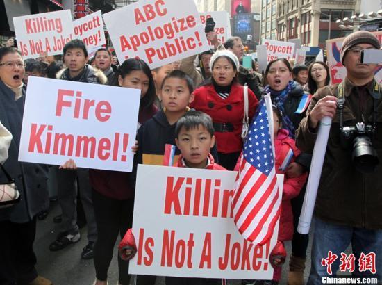 美国华人华侨抗议美国广播公司(abc)辱华言论的示威活动持续发酵,并在全美引起积极响应.