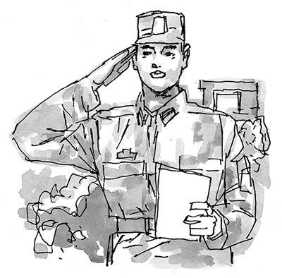 解放军简笔画-真实想法