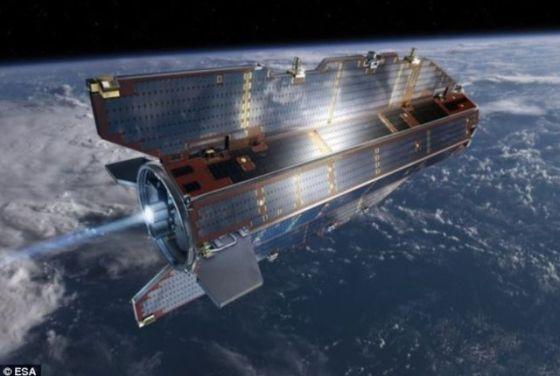 """欧洲空间局所属""""重力场和稳态海洋环流探测""""卫星(GOCE)已经完成使命"""