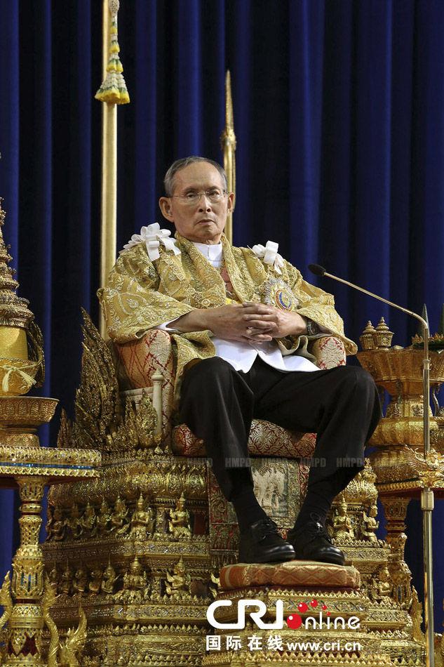 年12月5日,泰国国王普密蓬·阿杜德在在泰国曼谷忘忧宫发表讲话