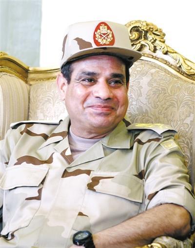 埃及军方领导人、现任国防部长塞西(资料图)