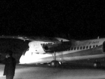 幸福航空飞机降落时机头触地|航空|飞机_凤凰资讯