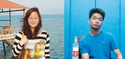 左图为被杀害的医生陈妤娜生前照片,右图为犯罪嫌疑人王运生在接受审讯 资料图