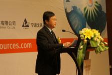 首届浙江进口商品展新闻发言人、宁波市贸促会副会长陈忆戎