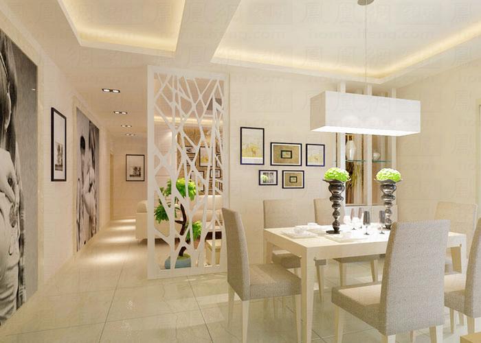 如何巧妙隔断客厅与餐厅?