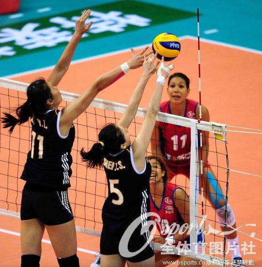 2013年中国国际女排精英赛深圳站第二轮的争夺全部结束.中高清图片