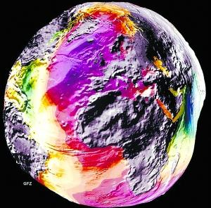 引力出现明显的不同,这与之前融化冰层现象有着密切联系.-气候变