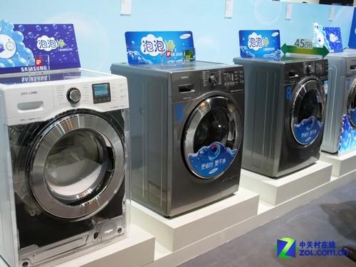 泡泡净技术领跑 三星洗衣机创赢市场