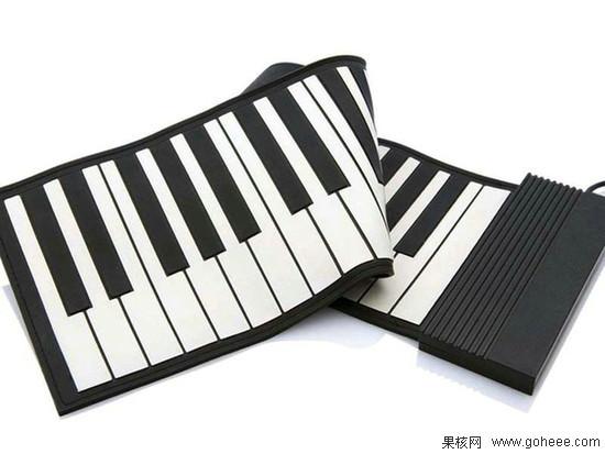 把钢琴卷起来带走 usb便携式折叠创意钢琴图片