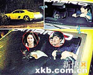 ■吴克羣曾驾跑车接女方夜游。