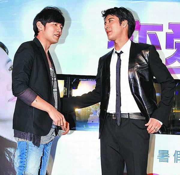 王力宏(右)与周杰伦都是华语歌坛多产量创作歌手