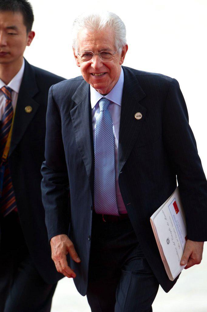 2012年4月2日,博鳌亚洲论坛,意大利总理蒙蒂(mario monti)