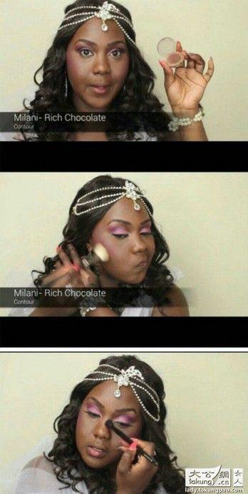 黑人性交视频黑人能看到_图解黑人女子化妆过程
