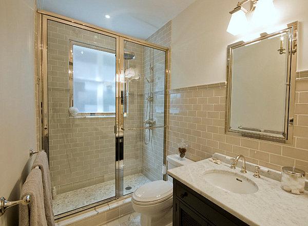 卫浴间瓷砖铺贴效果图 拼出自己的专属的浴室