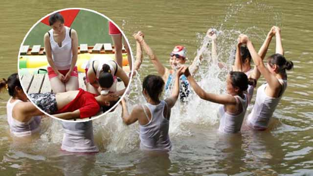 河南建女子漂流救护队