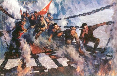 """有关泸定桥的资料_红军成功""""飞夺泸定桥""""后看到什么眼睛湿润? 红军 泸定"""