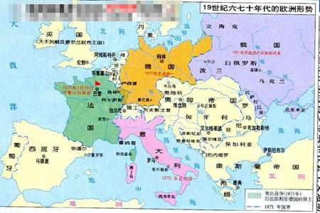 这一幅图是十九世纪的欧洲的政区图.