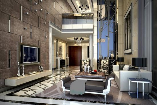 欧式客厅电视柜效果设计