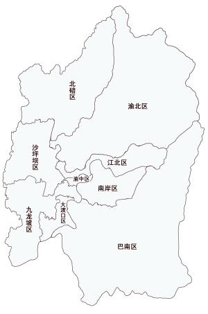 2018重庆城区地图_重庆主城九区版块图
