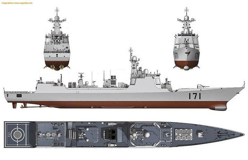 加尔各答级驱逐舰_052c和052d的吨位比较-加尔各答级驱逐舰-052c和052d的区别-中国海军 ...